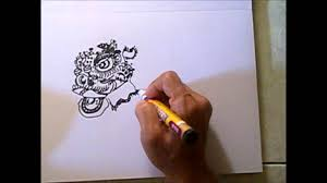 lion dancer book lion drawing 05 drawing traditional bristle haired foshan