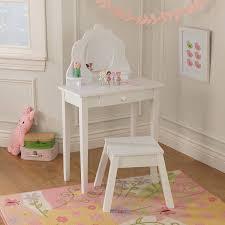 Wooden Girls Vanity Amazon Com Kidkraft Medium Diva Table U0026 Stool Toys U0026 Games