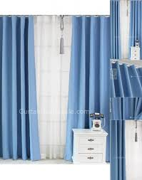 Blue Window Curtains blue window curtains solid color polyster modern energy saving of