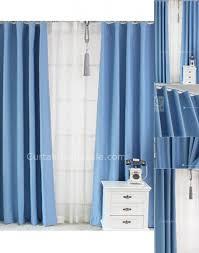 Blue Window Curtains blue window curtains solid color polyster modern energy saving of
