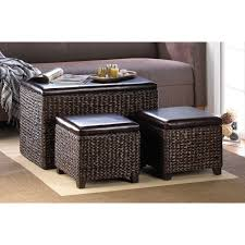storage winning wicker storage ottoman wicker storage ottoman