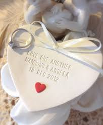 Wedding Ring Holder by Custom Heart Of Love Wedding Ring Bearer Bowl With Red Heart
