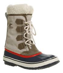womens sorel boots for sale sorel winter carnival navyredbeige in blue lyst