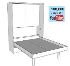 Murphy Bed Plans Free 28 Wall Bed Plan Free Wall Bed Plans Bed Plans Diy Amp