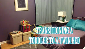 Twin Bed For Boys Transitioning Our Toddler From Crib To Twin Bed Youtube