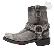 83696 harley davidson womens katerina slate leather mid cut