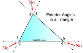 Definition Of Interior Angles Exterior Angles In A Triangle Mathbitsnotebook Geo Ccss Math