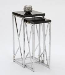 glass coffee table nest chrome nesting tables foter