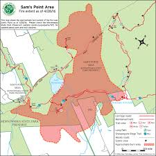 Wildfire Map Sam U0027s Point And Minnewaska Closed Due To Wildfire New York New
