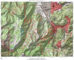 Park City Utah Map Spiro Trail In Park City