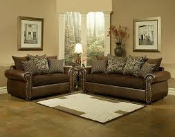 Leather Like Sofa Cmi 64395 2 Pc Anthony Collection Two Tone Fabric And Leather