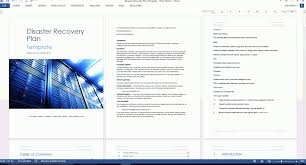 sample disaster recovery plan information technology