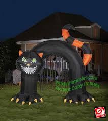 gemmy airblown lightsync black cat archway singing