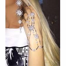 top earing top designer fashion snowflake flower