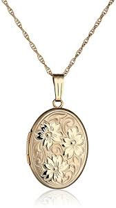 yellow jewelry necklace images 14k yellow gold embossed polished oval locket necklace jpg