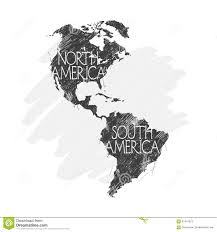 Blank South American Map by North And South America Map Background Vector Stock Vector Image