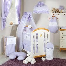 deco chambre parme linge de lit bébé brodée parure 3 pièces ours nuage parme i parure