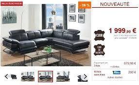 vente unique canapé cuir canape d angle cuir relaxation electrique canapac angle cuir relax