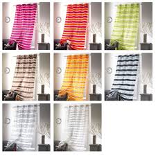Yellow Grommet Curtain Panels by Striped Sheer Curtain Panel Colorado Grommet Yellow