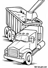 printable load truck coloring book boy printable