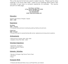 high school student resume templates no experience resume template jobdent sle for high