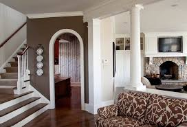 hallway wall colors hall farmhouse with gray walls traditional