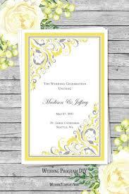 printable wedding program templates wedding program templates diy printable order of service wedding