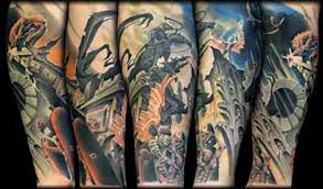 angel n demon full sleeve tattoo tattoos book 65 000 tattoos