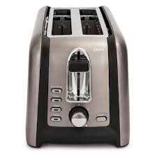 oster black stainless collection 4 slice long slot toaster