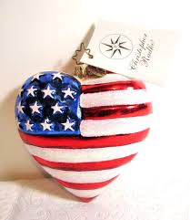 christopher radko american patriotic ornament flag and