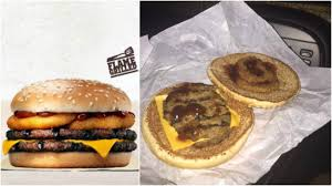 bk halloween whopper what a double rodeo bbq burger king burger actually looks like