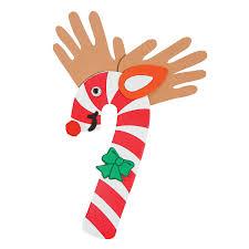 reindeer handprint craft candy cane reindeer handprint craft kit
