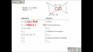 2 6 proving angles are congruent youtube
