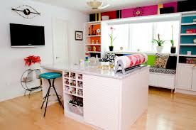 Craft Room Office - bright and beautiful craft room contemporary home office