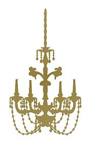 Baroque Chandelier Baroque Chandelier Wall Decal Gold 24 H X 13 W