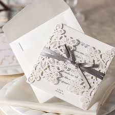 customized invitations 30pcs set white laser cut vintage wedding invitation cards