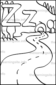 coloring pages zigzag zig zag lines colourin