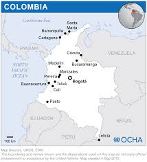 Columbia Map South America by Colombia Reliefweb