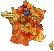 France On World Map by Ile De France On Old Map Of France With Flags Of Administrative