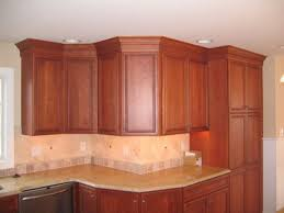 Red Mahogany Kitchen Cabinets Oak Wood Red Shaker Door Kitchen Cabinet Crown Molding Backsplash