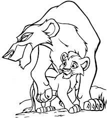 coloring pages simba u0027s pride fun site