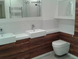 white brown bathroom design and decoration using square white