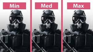 siege pc rainbow six siege pc min vs medium vs max detailed graphics