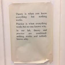 academia obscura on theory vs practice https t co