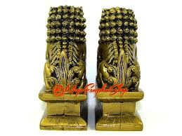 fu dogs pair of feng shui fu dogs for protection