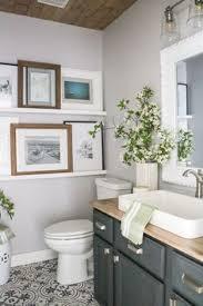 small powder bathroom ideas small powder room modern farmhouse vanity with wood ceiling