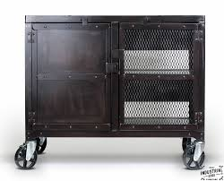 industrial rolling kitchen cart wine cabinet u2013 real industrial