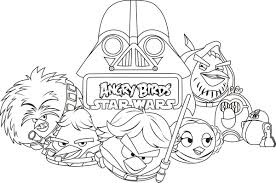 angry bird star wars angry birds star wars coloring pages