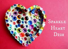 fun kid u0027s valentine craft sparkle heart dish free fun in austin