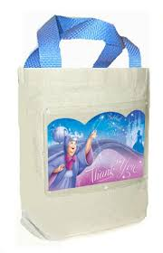 cinderella party favors cinderella birthday party favor bag canvas fabric cloth tote for